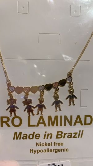 Last styles, Gold Plated Chapa de Oro pendants and necklace for Sale in Inglewood, CA