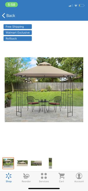 Toni Gazebo 10x10 Patio Outdoor Tent For Shade for Backyard Tan for Sale in Glendale, AZ