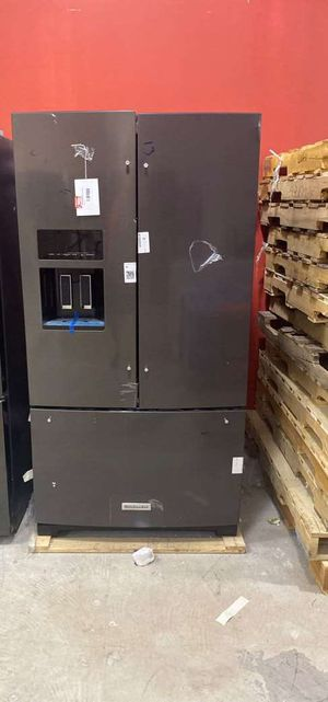 Kitchen aid KRFF507HBS refrigerator 🤩🤩🤩 65BTO for Sale in San Antonio, TX