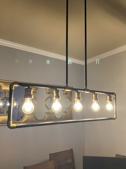 Modern/transitional black and gold light fixture for Sale in Herndon,  VA