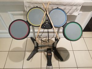ROCKBAND PLAYSTATION WIRED DRUM SET FOOT PEDAL STICKS PS2 PS3 PS4 HARMONIX for Sale in ROWLAND HGHTS, CA