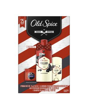 Old Spice Hair Style Volcano 4-Piece Set with Shampoo, Anti-Perspirant/Deodorant, Hair Pomade and ***Bow Tie*** for Sale in Virginia Gardens, FL