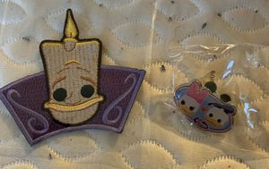 Disney Treasures Ever After Castle Pin & Patch - Lumiere & Donald & Daisy Duck for Sale in Colchester, CT