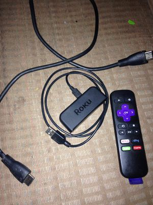 Roku Express w/Remote & cables for Sale in Black River Falls, WI
