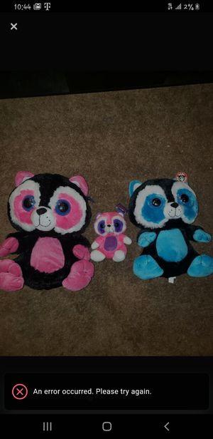 Raccoon Family Plush Stuffed Animals for Sale in Garland, TX