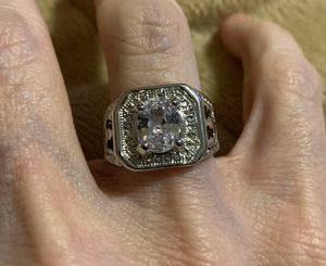 New CZ silver wedding ring size 6 for Sale in HOFFMAN EST, IL