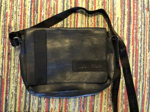 Calvin Klein Leather Messenger Bag for Sale in San Diego, CA