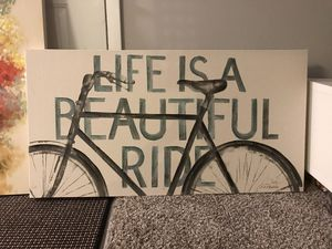 "Bicycle canvas art 45""x 25"" for Sale in Raleigh, NC"