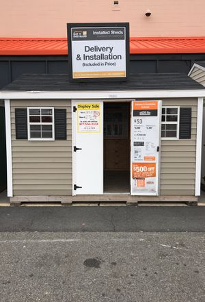 Sheds USA 8x12 Vinyl Classic Shed Display at Home Depot Jericho NY 11853 for Sale in Elmont, NY