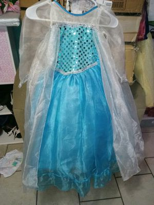 Disney Elsa little girls dress size 5/6 for Sale in Chicago, IL