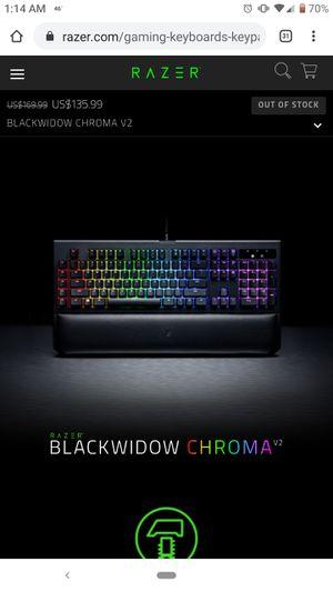 Razer Blackwidow Chroma V2 for Sale in Wilmington, NC