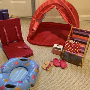 American Girl Doll Camping/vacation Set for Sale in Gaithersburg, MD
