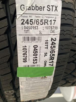 Tire Grabber STX 245/65R17 for Sale in Sioux City, IA