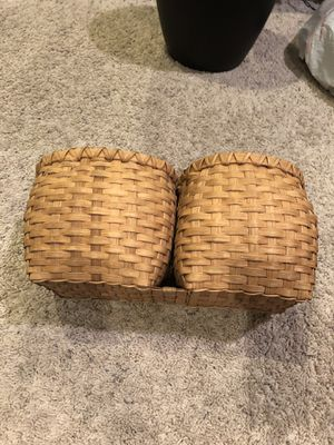 Woven Wooden Baskets (Attached Together) for Sale in Danville, CA