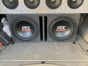 MTX Subwoofers 2 12s (And MTX Amp) for Sale in Croydon, PA