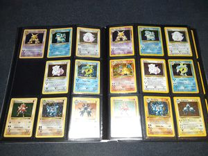 Pokemon cards vintage binder collection shadowless set for Sale in Bristol, PA
