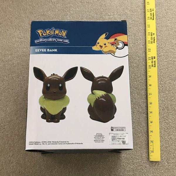 NEW Pokemon eevee money bank holder