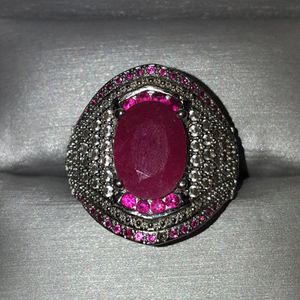 925 Silver Ruby Ring Size 7 for Sale in Waipahu, HI
