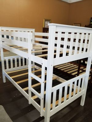 Solid wood twin size bunk bed for Sale in Sacramento, CA
