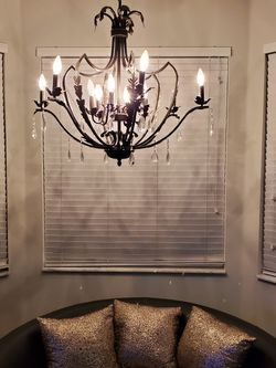 11 light Chandelier with hanging crystals. Bulbs Not Included. Taje A Look At My Other Offers for Sale in Hollywood,  FL