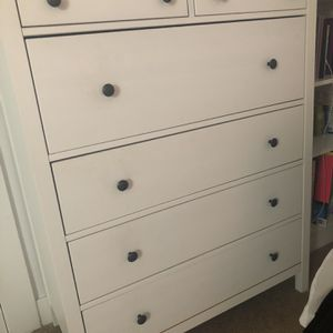 White Twin Bed, Dresser, and Makeup Vanity for Sale in Pasadena, CA