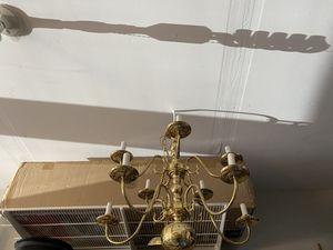 Gold chandelier mulit-tier lights for Sale in Rockville, MD