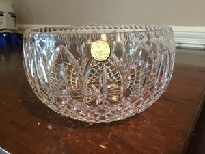"""Crystal bowl, made in Poland, 9"""" x 6""""'. New. 24% Crystal for Sale in Arlington, VA"""