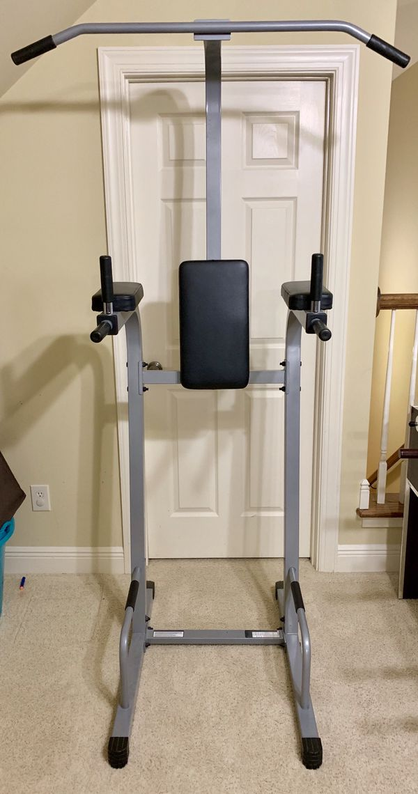 Body Solid Powerline Vertical Knee Raise, Dip, Pull up, Push up Power Tower