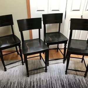 World Market Wooden Bar Chairs for Sale in Lynnwood, WA