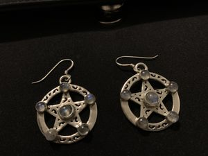 Sterling Silver Earrings with Moonstones crystals. for Sale in Houston, TX