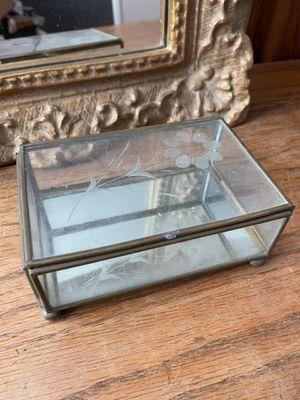 Vintage Glass Jewelry Box for Sale in Sacramento, CA