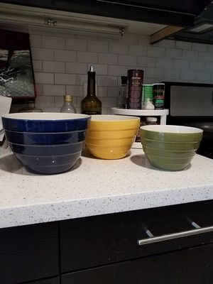 Set of 3 Stoneware bowls for Sale in Huntington Beach, CA
