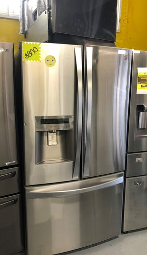 Kenmore 3 doors Stainlees steel $700 free delivery and installation come with warranty for Sale in Corona, CA