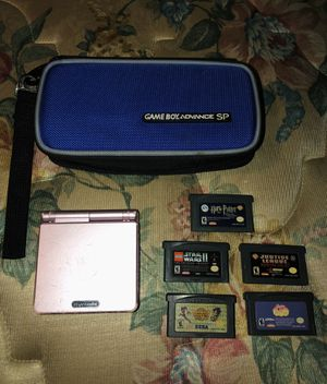 GAME BOY Advanced SP With 5 Games And A Travel Case for Sale in Costa Mesa, CA