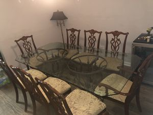 Glass Dinning Table With 8 Chairs for Sale in Bluffton, SC