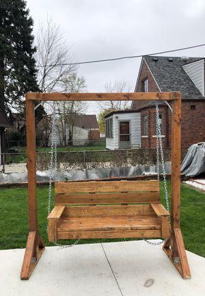 Wooden Porch Swing for Sale in Dearborn, MI
