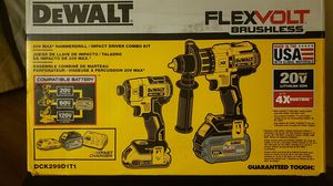 Dewalt flexvolt hammer drill/impact driver set for Sale in Sandy, UT