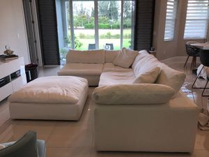Nixon white fabric sectional sofa for Sale in FL, US
