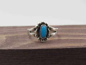 Size 7.25 Sterling Silver Blue Stone Band Ring Vintage Statement Engagement Wedding Promise Anniversary Bridal Cocktail Friendship for Sale in Everett, WA