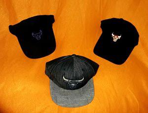 Chicago Bulls Sports Hats - (Pls view pics and description for details) for Sale in La Mesa, CA