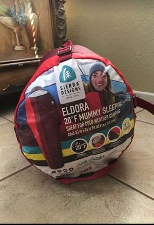 Sierra Design Eldora 20 Degree Fahrenheit Mummy Sleeping Bag for Sale in Menifee, CA