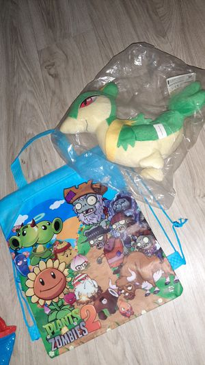 """New Christmas Boy Gift or girl sinch tote bag with 10"""" Pokemon stuffed animal for Sale in Manchester, NH"""