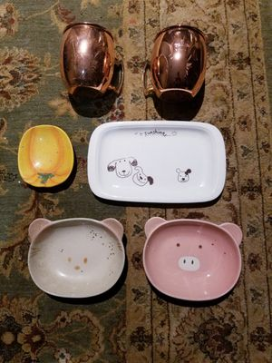 4 Decorated Plates 2 Cups for Sale in Burke, VA