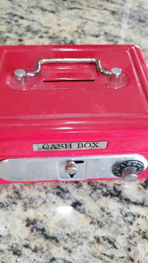 Red Locking Cash Box with Working Lock and Combination for Sale in Haymarket, VA
