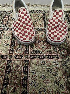 red checkered slip on vans boys size 9 for Sale in Kissimmee, FL
