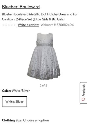 Pretty white dress&fur wrap for Sale in Hudson, FL