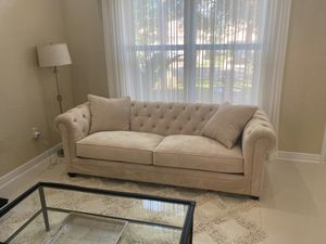 2 COUCHES. LOVE SEAT AND SECTIONAL. LIKE NEW for Sale in Delray Beach, FL