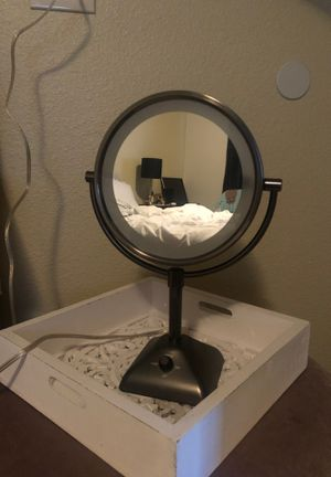 Tabletop Magnified Vanity Makeup Mirror, Dual-Sided with 3 light settings for Sale in Tempe, AZ