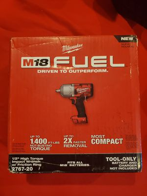 Milwaukee m18 fuel drill wrench 1/2 for Sale in Los Angeles, CA