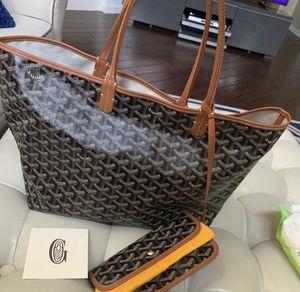 Goyard Tote Brown Leather for Sale in Linden, NJ